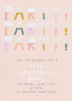 Color Block Party by Ashley G for Paperless Post Online invitations