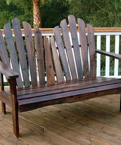 Another great find on #zulily! Burnt Brown Westport Love Seat by Shine Company Inc. #zulilyfinds