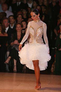 salsa bachata or latin dance dress - worn by Agnieszka Melnicka