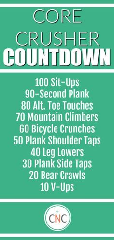 A quick, effective core workout that requires no equipment but is sure to leave your core on fire! The Effective Pictures We Offer You About Core Workout postpartum A quality picture can tell you many Crossfit Ab Workout, Workout List, Six Pack Abs Workout, Workout Days, Abs Workout Routines, Abs Workout For Women, No Equipment Workout, Fun Workouts, Core Workouts