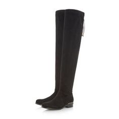 This elegant over the knee boot will go with a number of outfits. It features a low block heel with metal insert and drawstring tassel cuff. Team it with a sweater dress and opaque tights for easy everyday style.
