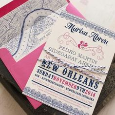Typography Wedding Invitation (New Orleans)