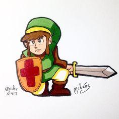 #Link from #TheLegendOfZelda  Happy 30th Anniversary Zelda! Feliz 30 aniversario Zelda!  #nintendo #fanart #zelda #videogames #gaming #adventure #hero #sword #anime #manga