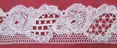 Madeleine012. ?white Chantilly?  point ground lace with kat stitch ground