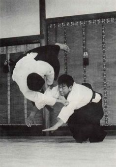 """Aikido is generally believed to represent circular movements. Contrary to such belief, however, Aikido, in its true Ki form, is a fierce art piercing straight through the center of opposition."" - Morihiro Saito, Traditional Aikido Volume 5. More from Saito Sensei in ""Budoka no Kotae – Talking to Morihiro Saito Sensei"", on the Aikido Sangenkai blog: https://www.aikidosangenkai.org/blog/budoka-no-kotae-morihiro-saito-part-1/"