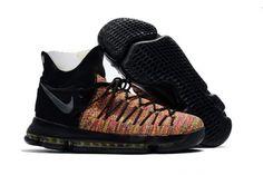 timeless design 98244 5245b 2017 Nike KD 9 Elite Black Multicolor For Sale