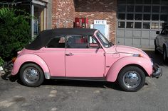 vintage vw convertible pink bug - Google Search