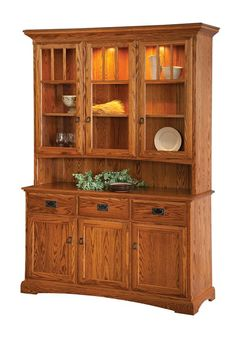 "Amish 56"" Three Door Hutch"