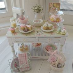 Easter baking table