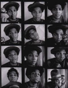 Jean-Michel Basquiat photo by Ari Marcopoulos, 1983.
