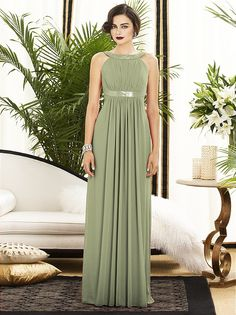 054f7c02586a Kiwi color - Bridesmaid dresses || Green Evening Gown ◇ Full length lux chiffon  dress