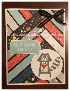 Squee! Don't you love this raccoon? He is from CTMH Woodland Critters stamp set…
