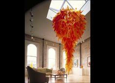 Orange Hornet Chandelier, 1993, 10 x 7', Savage Fine Arts, Portland, Oregon