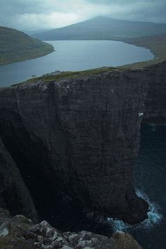 Sørvágsvatn/Leitisvatn is the biggest lake of the Faroe Islands.