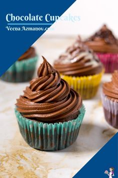 If you like light, fluffy and moist then this is the best chocolate cupcake recipe you will ever want to make. The light and airy texture come from using cocoa powder with oil and water. These are not overly sweet so you can enjoy them with or without frosting. The recipe is simple and easy so you will love making it often. #chocolate #cupcakes #frosting #cupcakerecipes #chocolatecupcakes #chocolatecupcakerecipe