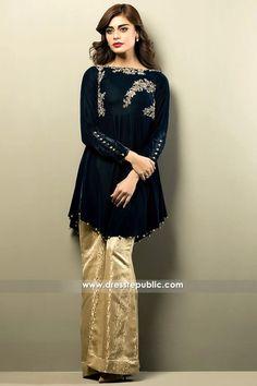 DR14154 - Pakistani Designer Velvet Dresses 2017