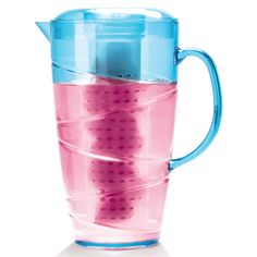 Infuse, steep and chill- this pitcher lets you do it all! Includes infuser for fruits and herbs, a stainless steel steeper for tea and a chiller for keeping drinks cool. Kitchen Helper, Toy Kitchen, Fruit Infused Water, Infused Waters, Baking Basics, Restaurant Equipment, Liquid Measuring Cup, Beverages, Drinks