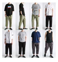와이드 9부,8부 배기밴딩팬츠(31~38까지)-pant60 Korean Fashion Men, Mens Fashion, Men Style Tips, Gq Mens Style, Cool Outfits For Men, Vetement Fashion, Minimal Fashion, Mens Clothing Styles, Look Fashion