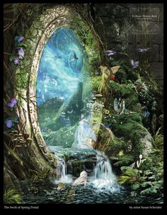 Swift of Spring Portal by Susan Schroder - Mythic Fantasy Fairy art print