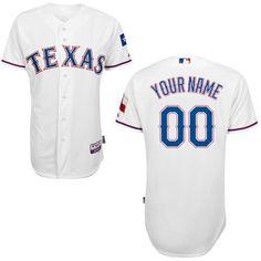 a3cfa6f7c1a MLB Customize Texas Rangers White Jerseys