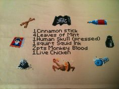 The voodoo recipe to get to Monkey Island