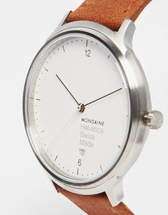 Image 3 ofMondaine Helvetica Leather Strap Watch