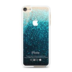 Blue Water Faux Glitter iPod Touch 6 | 6th Gen case