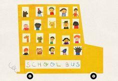School Bus by Blanca Gómez — On The Wall