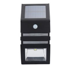 Outdoor Solar Powered Security Light (Black)
