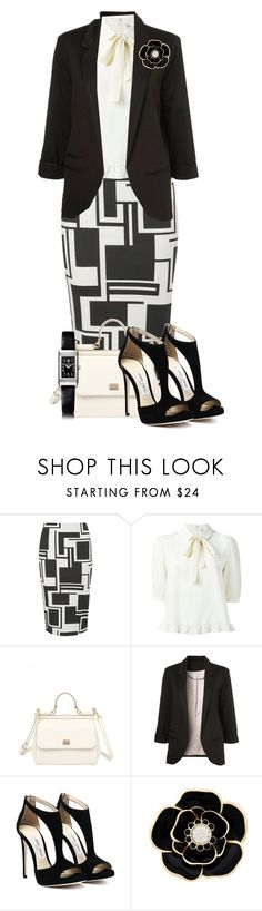 """""""Blazer and Pencil Skirt"""" by tlb0318 ❤ liked on Polyvore featuring Dorothy Perkins, Dolce&Gabbana, Liz Claiborne and Jaeger-LeCoultre"""