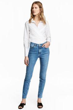 Slim High Waist Jeans - Denim blue - Ladies | H&M GB 1