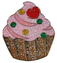 Mark Your Spot with GLITZY Cupcake Ball Marker! Satisfy your sweet tooth without feeling the guilt with this yummy ball marker!