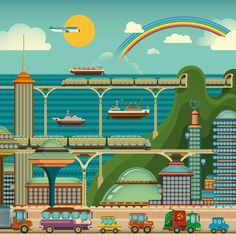 Utopian Cities by Radoman Durkovic, via Behance