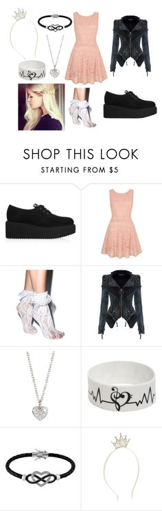 """""""Rikki"""" by shaybot12 ❤ liked on Polyvore featuring Karl Lagerfeld, Yumi, Leg Avenue, Finn, Jewel Exclusive and Monsoon"""