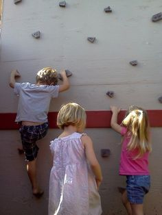 Put a rock climbing wall on your shed!