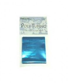 """Ben Franklin Hawaii's Poly Tubing - Blue 3"""" $1.99 for 15 ft + shipping. This is the stuff they use in Hawaii to make candy leis. Just thought I'd share. Yes, using cellophane or plastic wrap may be cheaper but this stuff is so much more easier! #candylei"""