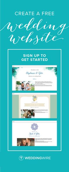 Sign Up To Create Your Free Wedding Website Get Other Great Planning Tools When You