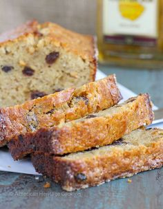 This Brown Butter Rum Raisin Banana Bread is a sinfully delicious combination of nutty brown butter, rum soaked raisins and incredibly moist banana bread! So delicious, you won't want the loaf to e…
