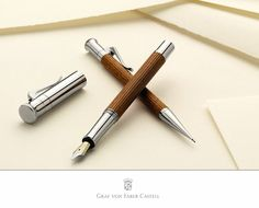 The feeling conveyed by a noble fountain pen with a gold nib remains incomparable. The slender shape and  good balance of the Classic propelling pencil and ball pen mean that they sit comfortably in the hand. Well engineered mechanisms and robust details, such as the spring-loaded clip made of solid metal, ensure that the joy of using them is as timeless as the design.  Available at ARABESQUE of NAPLES 239 403 0043 arabesqueproofs@aol.com