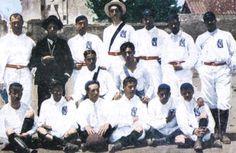 Fotografía coloreada del Real Madrid en 1902 cuado era Maedrid Foot-Ball Club
