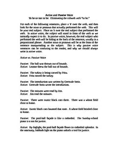 This is an Active and Passive Voice Activity worksheet. This is a mini-lesson designed for quick, focused instruction about eliminating passive vo. Subject And Predicate Worksheets, Verb Worksheets, Printable Worksheets, Teaching English Grammar, English Grammar Worksheets, Covalent Bonding Worksheet, Active And Passive Voice, Word Nerd, Persuasive Writing