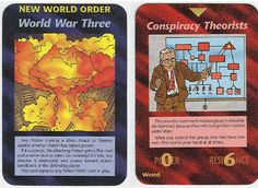 """80's Illuminati Card Game Predicted 9/11, Chemtrails, HAARP, Fukushima 20 Years before They Happened   3.16.14   Posted here on 2.4.15   """"'Illuminati: The Game of Conspiracy' is a card game produced by Steve Jackson Games that was originally released in the early 80′s.""""  Illuminati Card Game"""