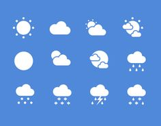 Flat Weather Icon Setfree To Use For Commercial Purposesthese Are Simple Flat Weather Icon I Have