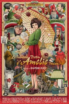 "Amelie alternative movie poster by Ise Ananphada ""Amelie is an innocent and naive girl in Paris with her own sense of justice. She decides to help those around her and, along the way, discovers love."" More Ise Ananphada AMPs: Ise Ananphada Artists Websi Amelie, Poster Print, Movie Poster Art, Poster Drawing, Cinema Posters, Film Posters, Cinema Art, Pop Art, Laurel Und Hardy"