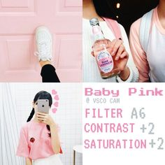 """"""" Baby Pink """" VSCO CAM filter to INSTAGRAM By @immabeveera… More"""