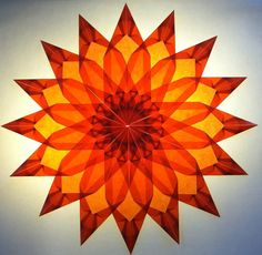 Orange and Yellow 3D Geometric Sun