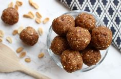 Peanit butter energy balls | Nourishing Amelia   Everyone loves peanut butter, right? If you're a nut butter addict like me you're going to love these peanut butter energy balls! You'll...