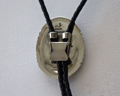 Navajo Silver Bolo Tie Turquoise LaRose by TaxcoandMore on Etsy
