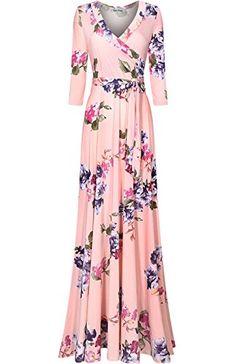 Bon Rosy Women's 3/4 Sleeve Floral Printed Bohemian Maxi ... https://www.amazon.com/dp/B06ZY7LBS2/ref=cm_sw_r_pi_dp_x_pn0Fzb01CDAPN