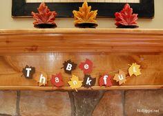 Fall leaves banner perfect for thanksgiving - NoBiggie.net